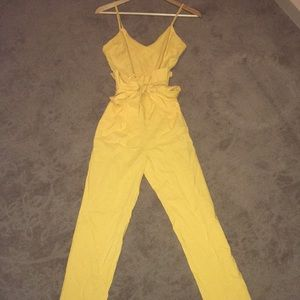 Celebrity Tank Top Tie and High Waisted Jumpsuit